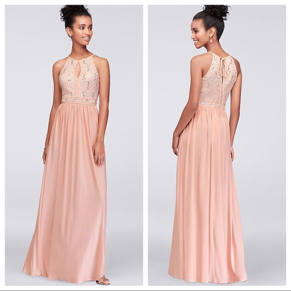 79d66213ff9a David's Bridal Dresses & Skirts - David's Bridal Blush Dusty Rose Pink Long  Dress
